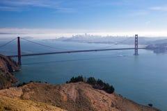горизонт san строба francisco моста золотистый стоковая фотография rf