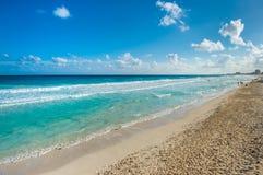 Горизонт Seascape в Cancun, Мексике Стоковое Изображение RF