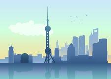 горизонт shanghai Стоковое фото RF