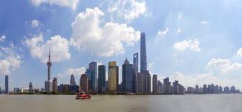 горизонт shanghai Стоковые Фотографии RF