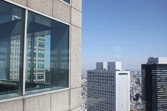 Горизонт Shinjuku от здания правительства токио столичного Стоковое фото RF