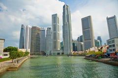 горизонт singapore заречья дела центральный Стоковое Фото