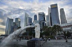 горизонт singapore реки дневного времени Стоковые Фотографии RF