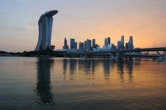 горизонт singapore финансового района Стоковая Фотография