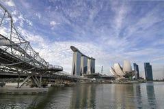 горизонт singapore helix моста стоковые изображения