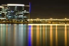 горизонт tempe ночи Аризоны Стоковая Фотография