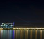 горизонт tempe ночи Аризоны Стоковые Фотографии RF