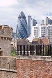 горизонт thames реки офиса london города самомоднейший Стоковое Изображение