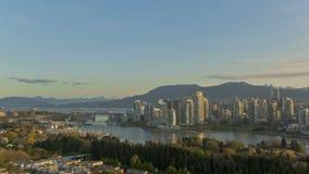 Горизонт Timelapse Ванкувера акции видеоматериалы