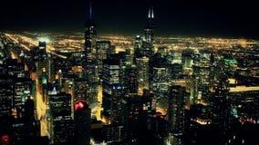 Горизонт Timelapse 2 ночи Чикаго сток-видео