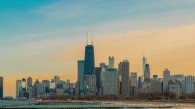 Горизонт Timelapse ` s Чикаго сток-видео
