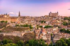 Горизонт Toledo, Испании Стоковое Фото