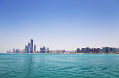 горизонт UAE Abu Dhabi Стоковая Фотография