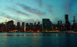 горизонт york города новый Стоковые Изображения