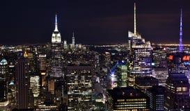 горизонт york ночи города новый Стоковое Фото