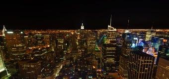 горизонт york ночи города новый Стоковые Фотографии RF