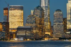 горизонт york manhattan города новый Стоковая Фотография RF