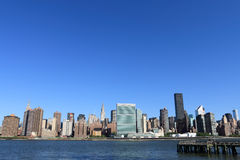 горизонт york manhattan города новый Стоковая Фотография