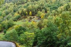 Гористая местность Норвегии стоковые изображения