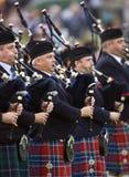гористая местность Шотландия игр волынок Стоковое фото RF