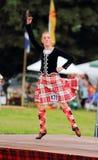гористая местность Шотландия игр танцора Стоковое Фото
