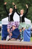 гористая местность Шотландия игр танцора Стоковая Фотография RF