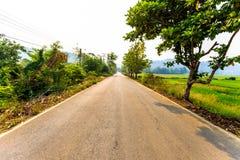 Гористая местность road стоковая фотография