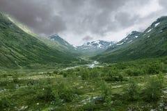 Гористые местности в Норвегии Стоковые Изображения RF
