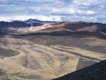 Гористые местности в северной Исландии стоковая фотография rf
