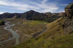 гористые местности Исландия landmannalaugar Стоковые Изображения