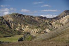 гористые местности Исландия landmannalaugar Стоковое Изображение