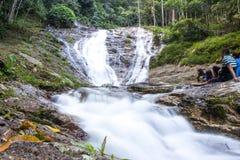 Гористые местности Камерона, Малайзия - FEBUARY7,2015: Вода Lata Iskandar Стоковое фото RF