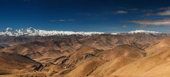 гористые местности тибетские Стоковое Изображение RF