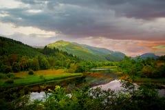 гористые местности шотландские Стоковые Фото