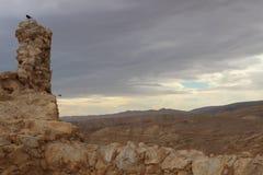 Гористый ландшафт вокруг Masada в Израиле Стоковые Изображения RF