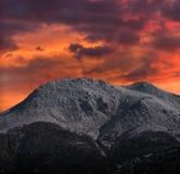 Холодный заход солнца стоковые изображения rf