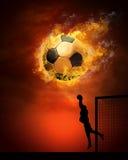 горит футболиста стоковая фотография