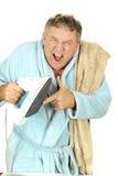 горит человека утюга перста Стоковая Фотография RF