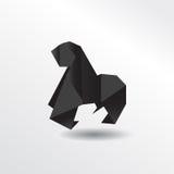 Горилла Origami Стоковые Изображения
