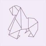 Горилла Origami Стоковые Фотографии RF
