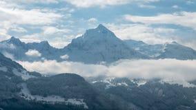 Горная вершина в Швейцарии Стоковое Фото