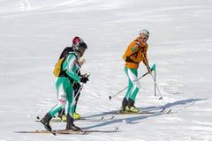 Горная вершина лыжи Этна - трофей Этна International чемпионата мира 2012 Стоковая Фотография