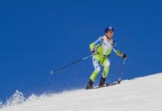 Горная вершина лыжи Этна - трофей Этна International чемпионата мира 2012 Стоковые Изображения