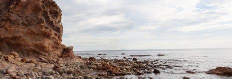 Горная порода берега пляжа бухты Hallett Стоковые Изображения