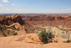 Горная порода в национальном парке Canyonlands Юта Стоковая Фотография RF