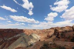Горная порода в национальном парке Canyonlands Юта Стоковые Изображения