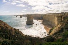 Горная порода в океане вдоль большой дороги океана, Виктория 12 апостолов, Австралия Стоковое Изображение RF