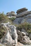 Горная порода в El Torcal, Antequera, Андалусии  Стоковое Фото