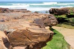 Горная порода на пляже Стоковые Изображения RF