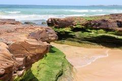 Горная порода на пляже Стоковое Изображение